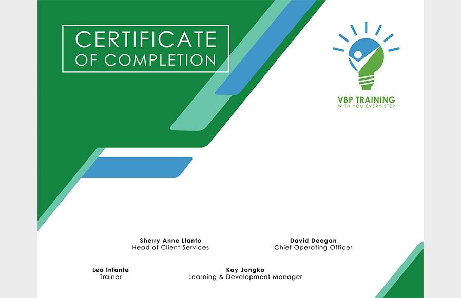 VBP Training-Certificate